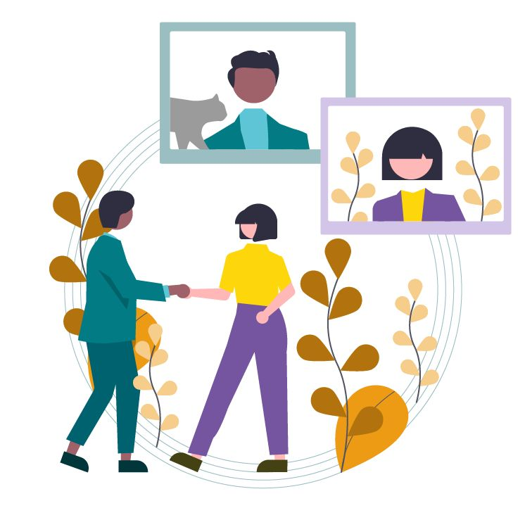 BUFDG report illustration of virtual meetings