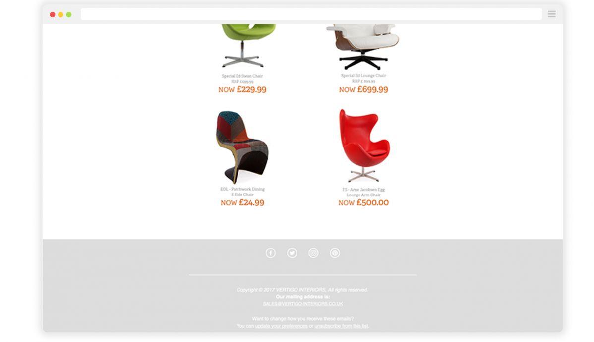 Vertigo Interiors Email Screen 2