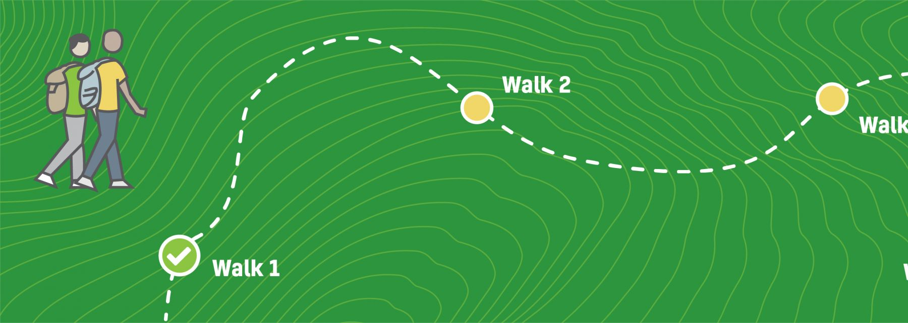 Baca fundraising charity walk first walk complete