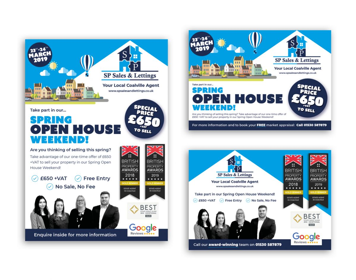 Sp Sales Lettings Leaflets