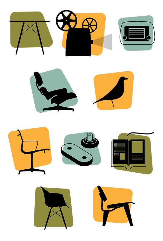 Vintage Design Category Icons