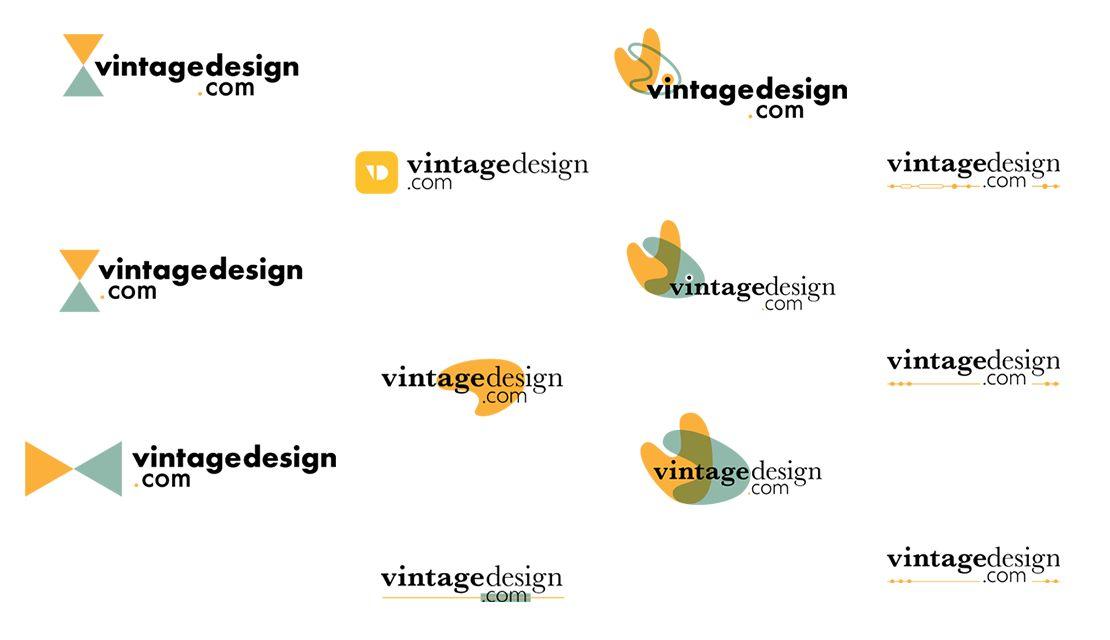 Vintage Design Logo Initial Concepts